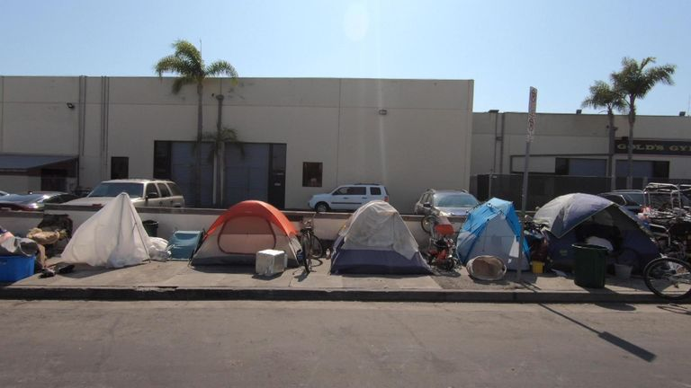 Homelessness has increased in the Californian city over the past year