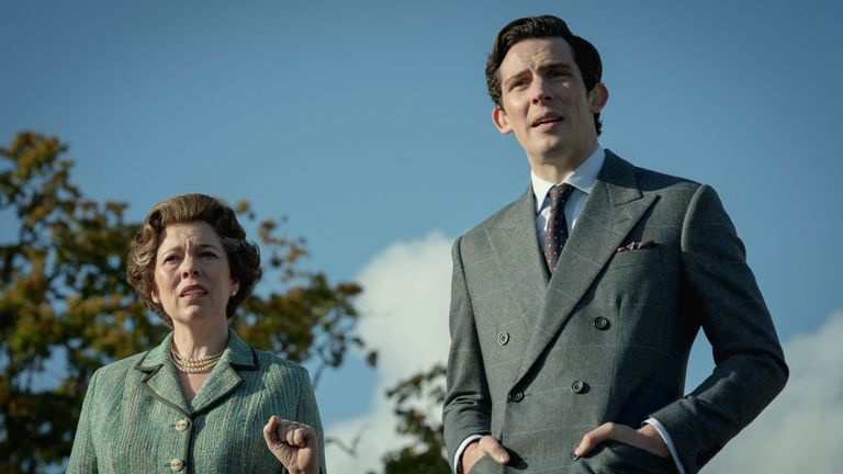 Olivia Colman as the Queen in first-look pictures from the upcoming fourth series of The Crown. Pic: Netflix