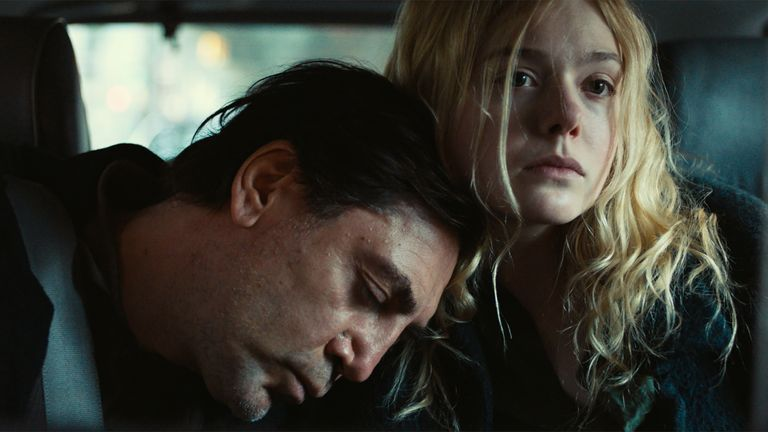 Javier Bardem and Elle Fanning star in The Roads Not Taken. Pic: Universal