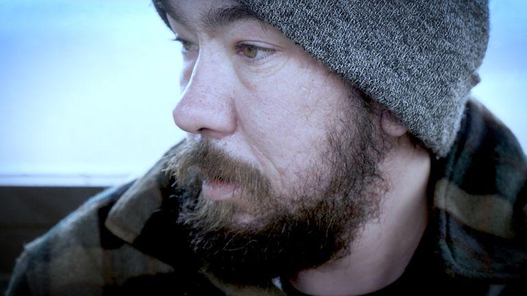 Tom Allen, homeless in February