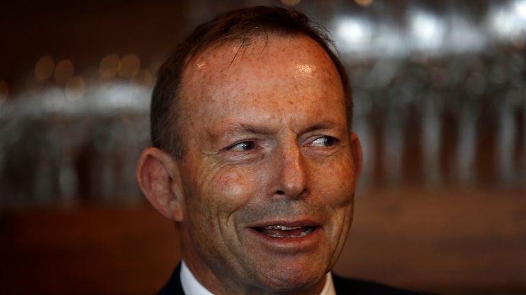 Former Australian prime minister Tony Abbott