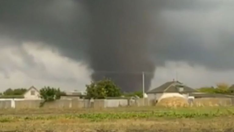 Tornado approaching in Ukraine