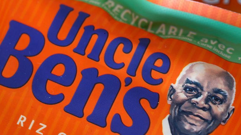 PARIS, FRANCE - JUNE 20: In this photo illustration, the portrait of 'Uncle Ben' is portrayed on a box of Uncle Ben's rice on June 20, 2020 in Paris, France. The rice brand 'Uncle Ben's' will change the image of a black farmer on their boxes that the brand has been using since the 1940's and could also be forced to change its name, in reaction to protests against racial injustice. The parent company will reorganize the brand following calls for racial equality after the death of George Floyd and