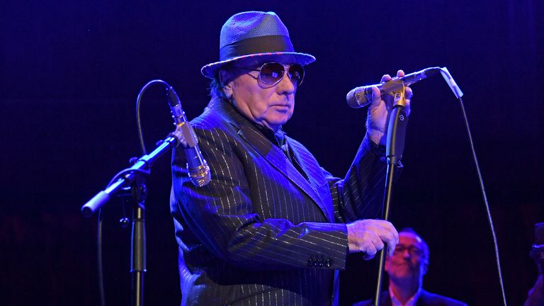 "Van Morrison performs at ""A Night At Ronnie Scotts: 60th Anniversary Gala"" at the Royal Albert Hall on October 30, 2019 in London, England"
