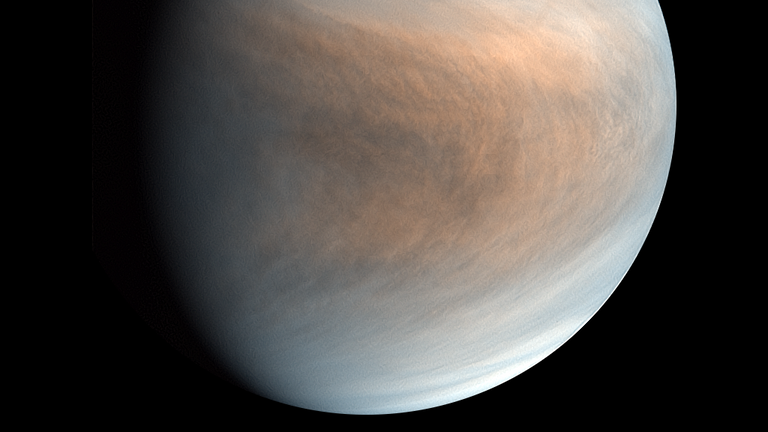 Venus is covered in clouds of sulphuric acid. Pic: JAXA