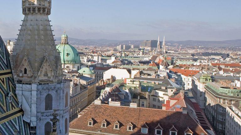 A general view over Vienna, Austria