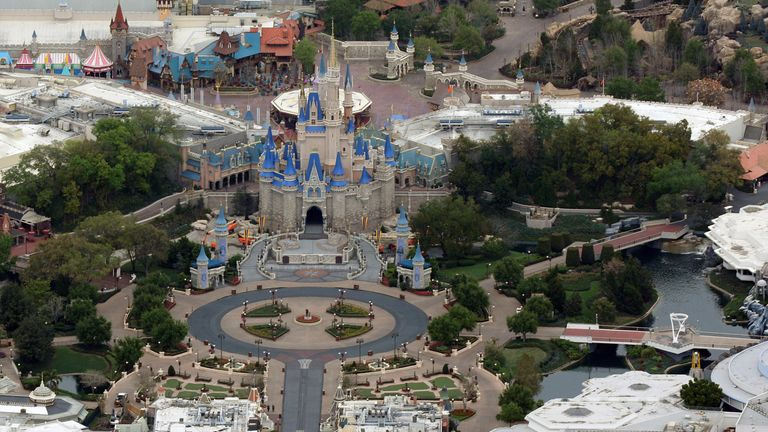 Walt Disney World in Florida after it closed in March due to the spread of the coronavirus
