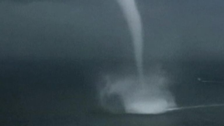 Waterspout in China