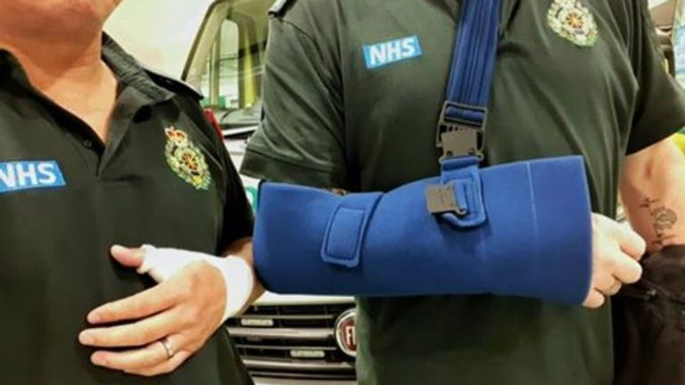 Two ambulance workers were injured last month after being assaulted. Pic: West Midlands Ambulance Service