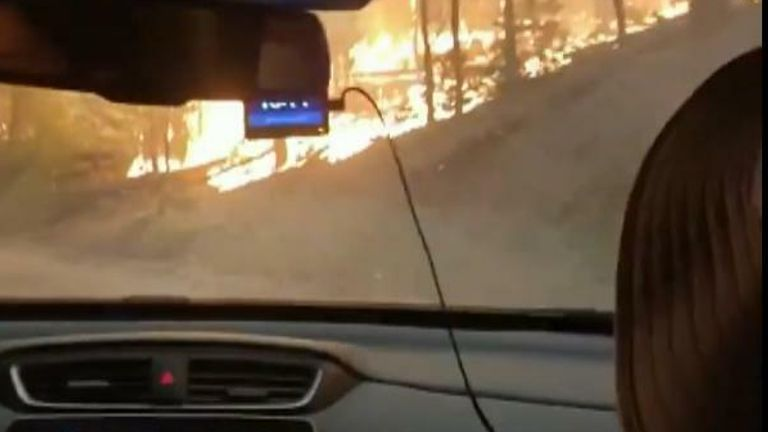 Escape from California wildfires