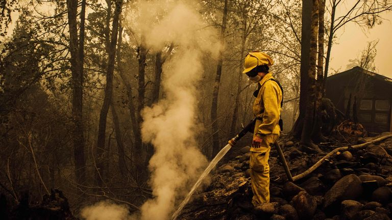 The northwestern state of Oregon has been hard-hit by the fires