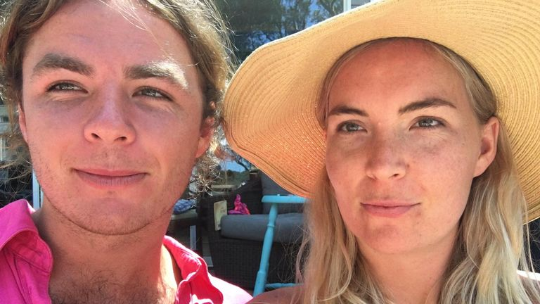 Emily Hastins with her brother Will Mainprize, who is missing at sea off the coast of Japan. The Australian siblings are only 18 months apart and 'are like twins,' Emily said. Pic: supplied by Emily Hastings