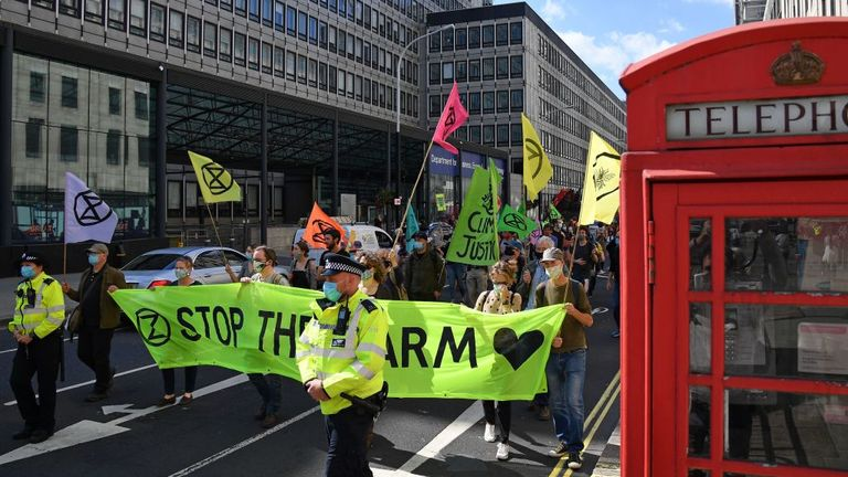 More than 1,000 protesters hit the streets of London