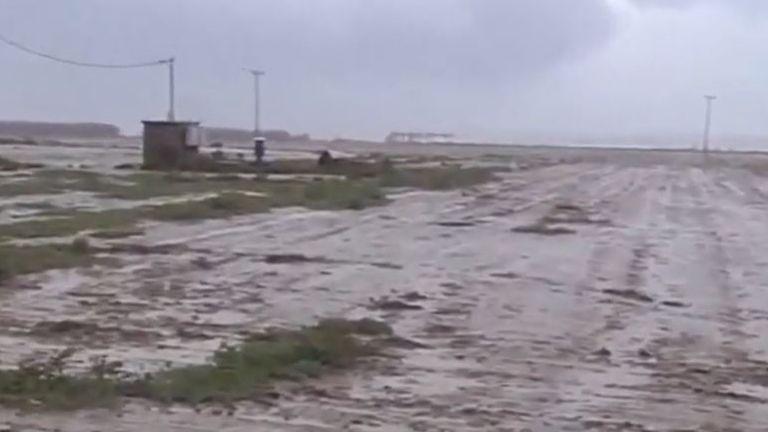 Zakynthos looks like a grim wasteland after cyclone hits