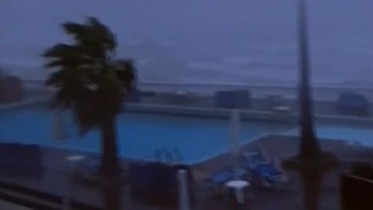 Zakynthos lashed by cyclone