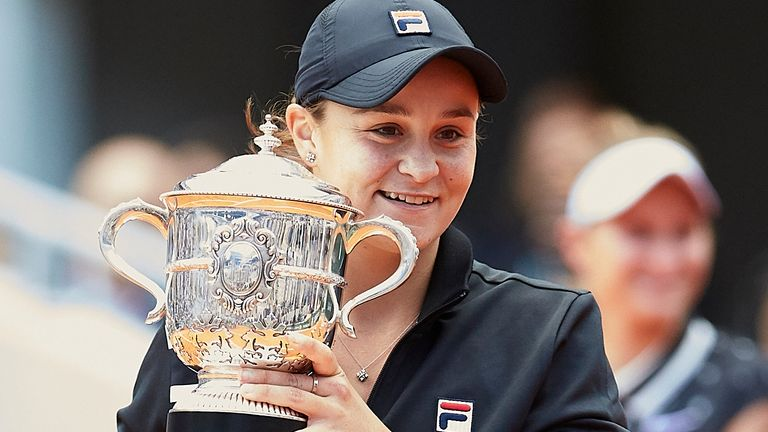 Ashleigh Barty won her maiden grand slam at the 2019 French Open