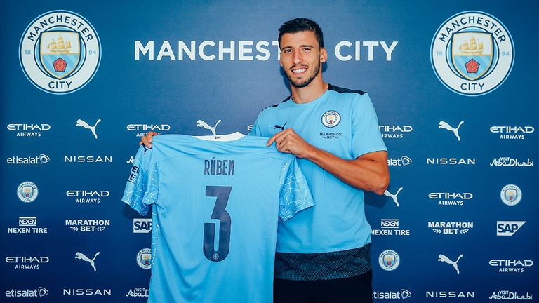 Ruben Dias has moved to Manchester City on a six-year deal