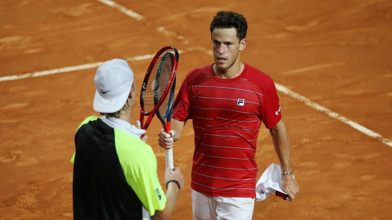 Diego Schwartzman continued his run in Rome with a thrilling victory over Denis Shapovalov