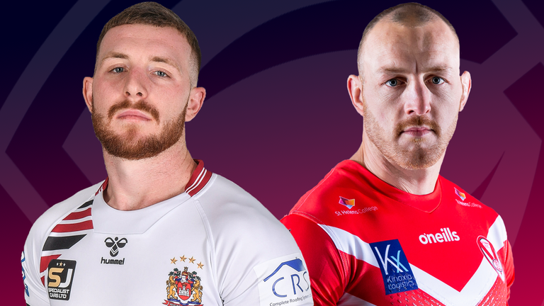 Wigan and St Helens face off in a derby clash on Tuesday evening