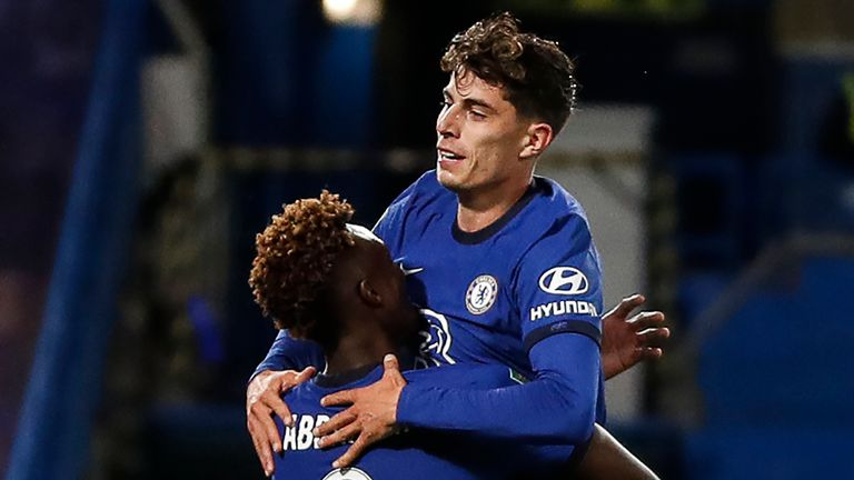 Chelsea's new signing Kai Havertz scored three goals in his third appearance for the club as the Blues hit Barnsley for six in the third round of the Carabao Cup