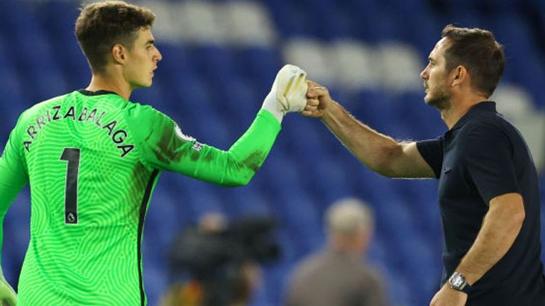 Frank Lampard is set to hold talks with goalkeeper Kepa Arrizabalaga