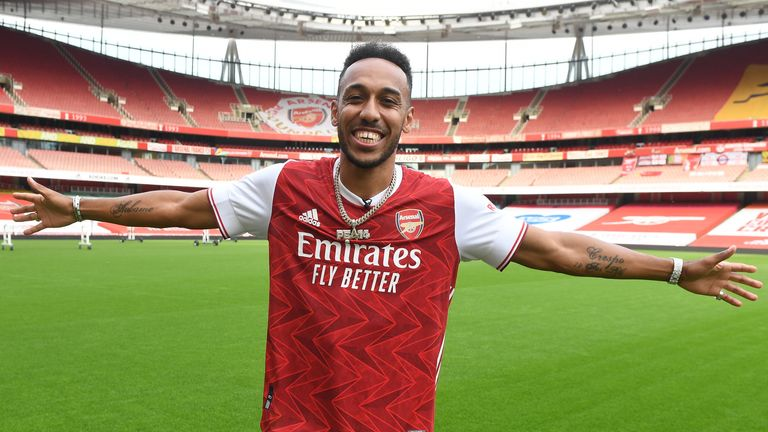 Pierre-Emerick Aubameyang signs a new three-year contract with Arsenal