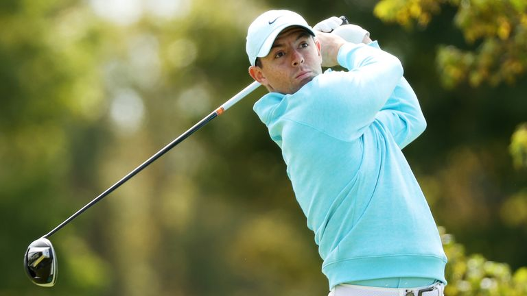 Rory McIlroy during the final round of the US Open