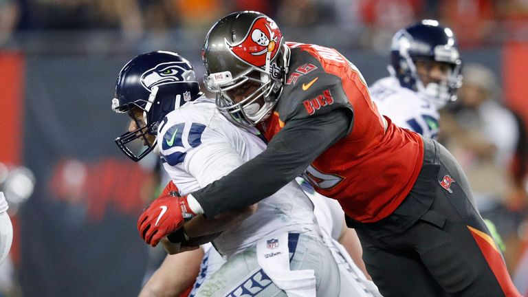 Take a look at some of Russell's best sacks during his time with the Bucs