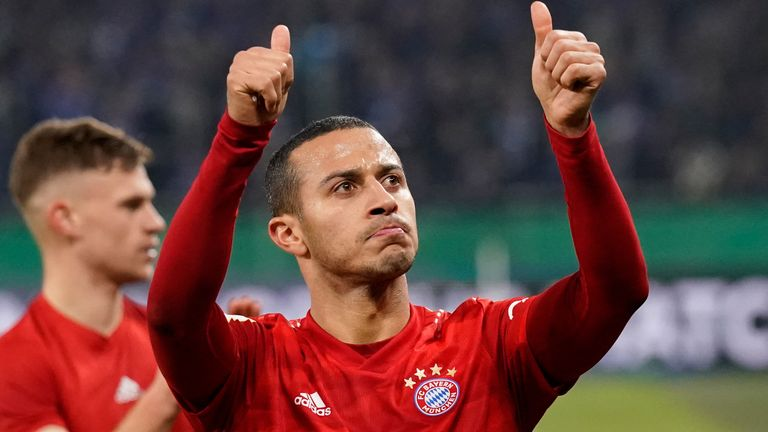 Thiago is poised to join Liverpool from Bayern Munich
