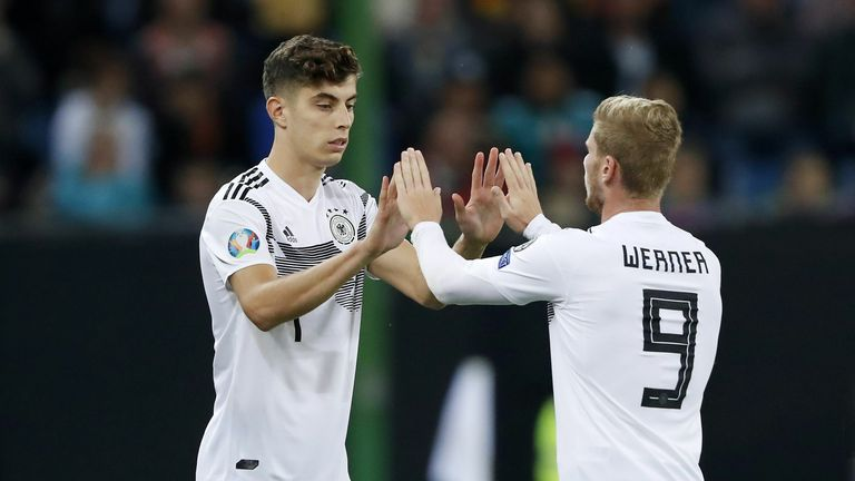 Kai Havertz is confident he can form an effective partnership with Germany team-mate Timo Werner at Chelsea