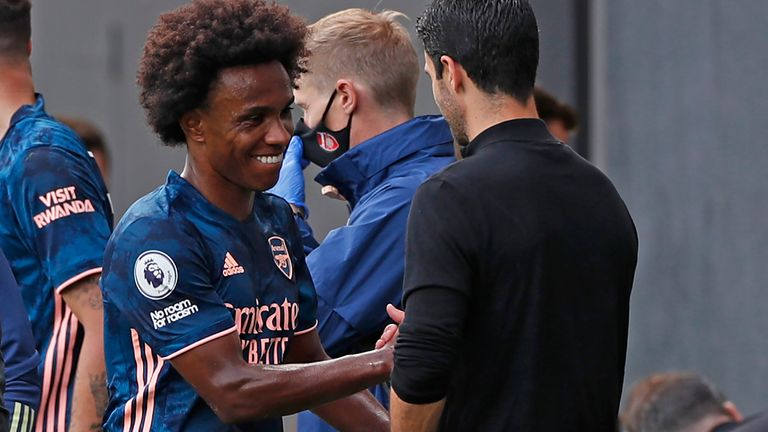 Arteta praised Willian's qualities in Arsenal's 3-0 win at Craven Cottage