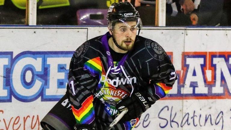 Zach Sullivan, Manchester Storm, ice hockey (credit: Victoria Schofield)