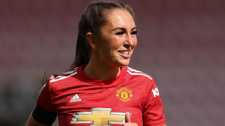 Manchester United's Katie Zelem is one of seven players to earn their first senior England call-up