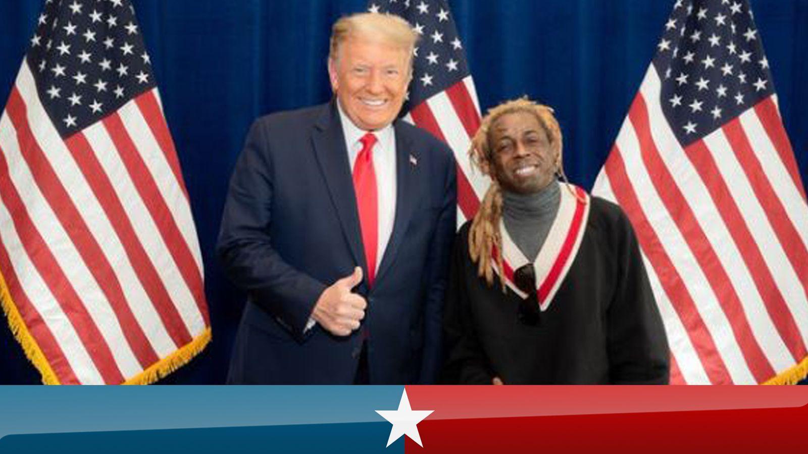 US election 2020: Rapper Lil Wayne endorses Donald Trump and backs 'platinum plan'