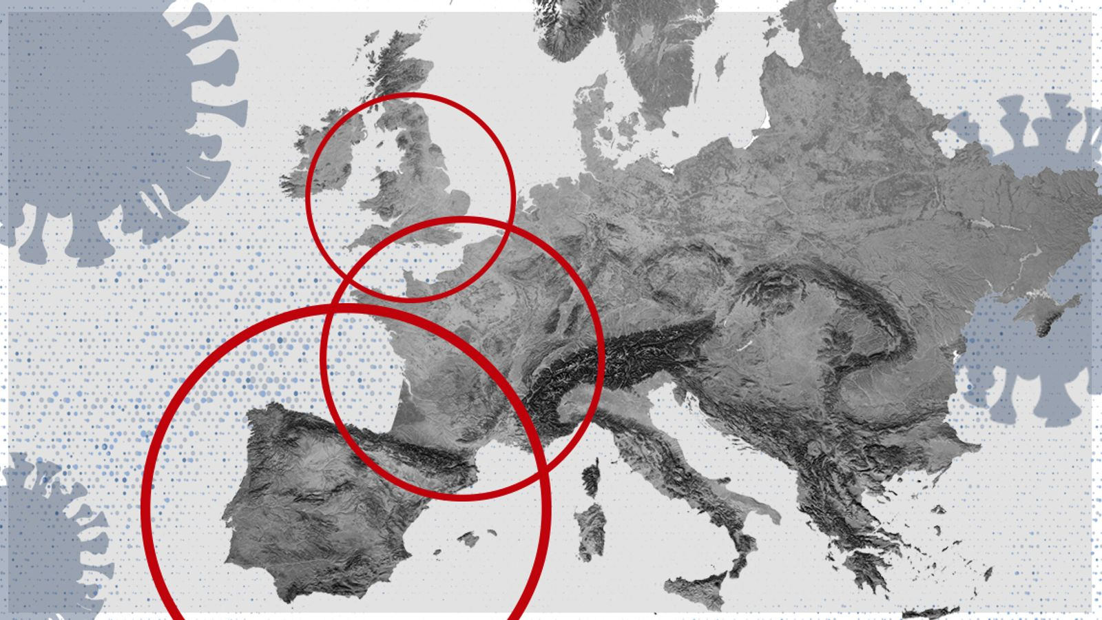 Coronavirus Five Of Europe S Top Covid 19 Hotspots Are In The North Of England World News Sky News