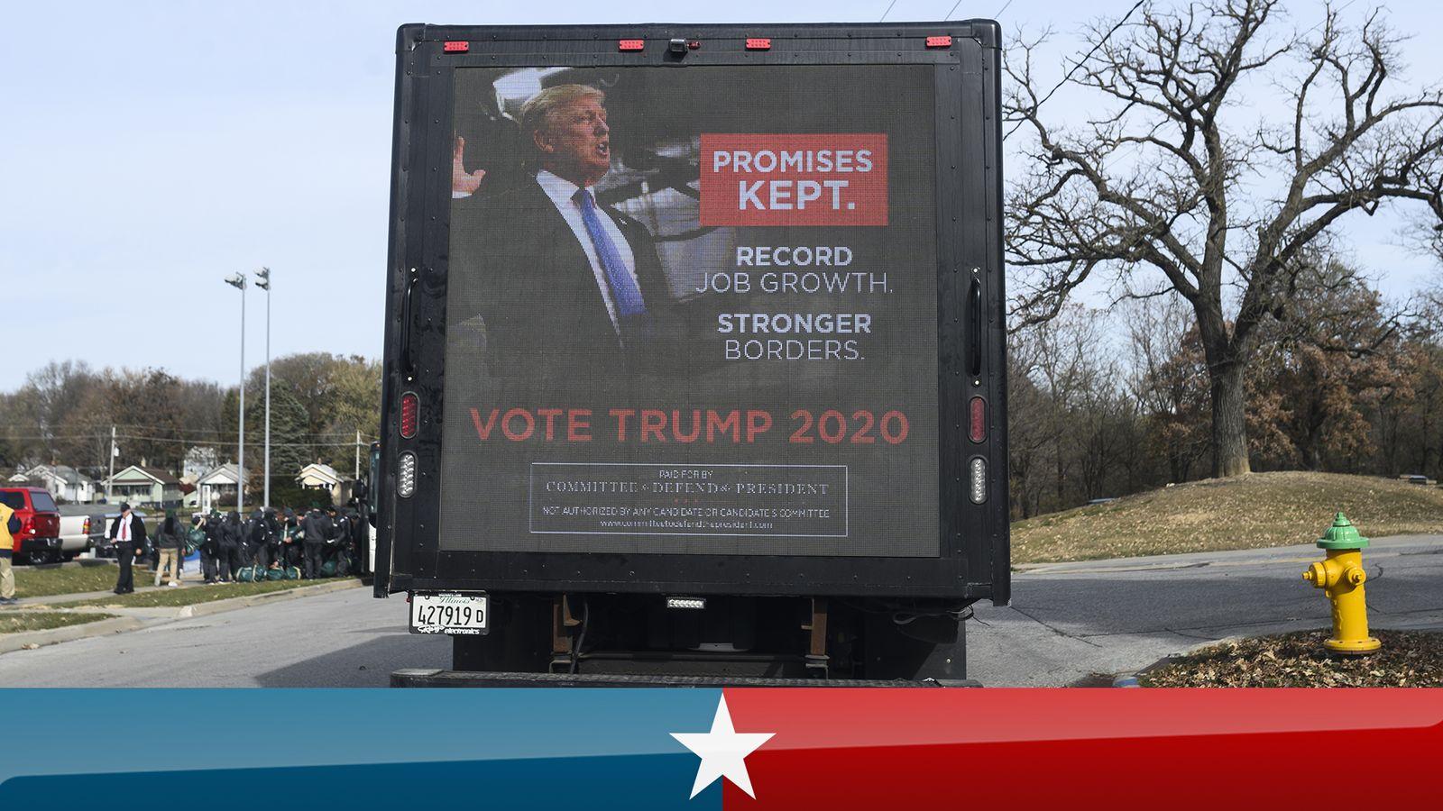 Us Election 2020 Biden Has Big Cash Advantage Over Trump As Race Enters Final Stretch Us News Sky News