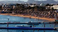 A 12-year-old child on holiday and his guide lost limbs after a shark attack in Sharm el-Sheikh