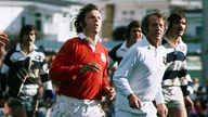 JJ Williams during  match between Auckland and the British Lions in 1977