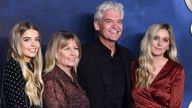 Schofield with his wife Stephanie Lowe, and daughters Molly and Ruby