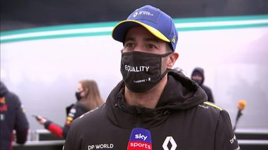 Ricciardo on his first Renault podium