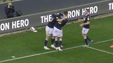 Millwall go ahead on stroke of half-time