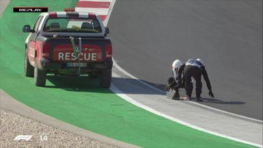Vettel brings up drain cover