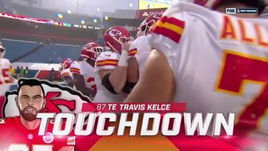 Mahomes and Kelce combine for two TD's