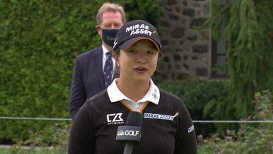 Kim celebrates dominant first major win