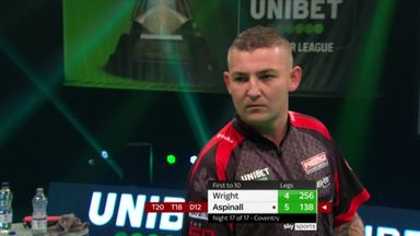 Aspinall's awesome 138 checkout