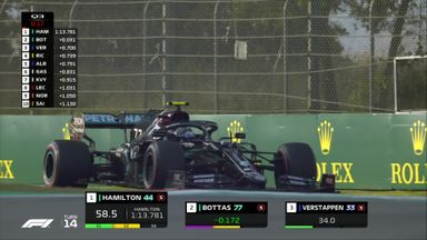 Bottas snatches pole from Hamilton