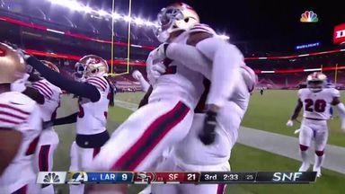 Verrett intercepts Goff pass in endzone