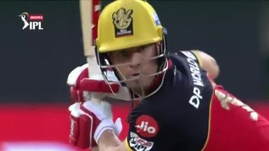 De Villiers hits three sixes in a row!