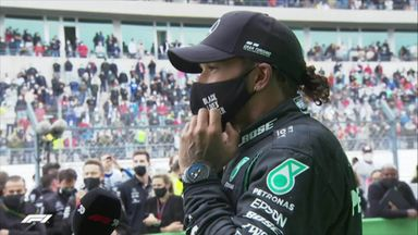 Hamilton lost for words after historic win