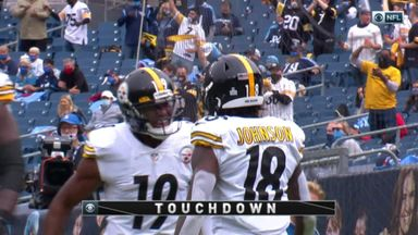 Johnson shows quick feet for second TD